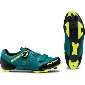 Northwave Razer Shoes Herr green/yellow fluo